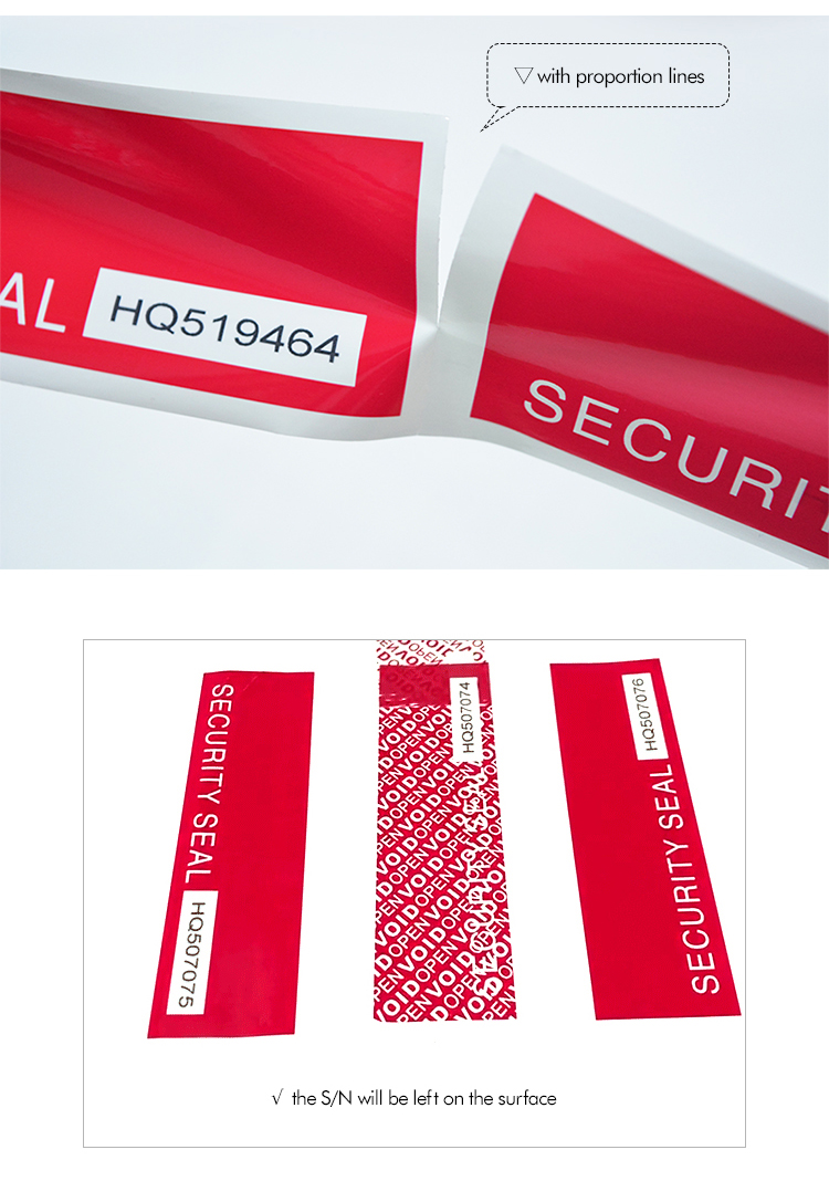 Security Seal Tape With Serial Number
