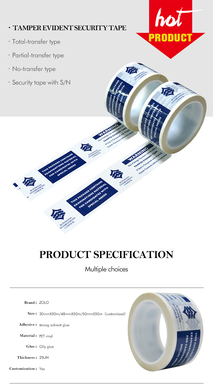 Safety Seal Tamper Resistant Tape