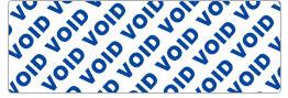 Partial-transfer VOID sticker