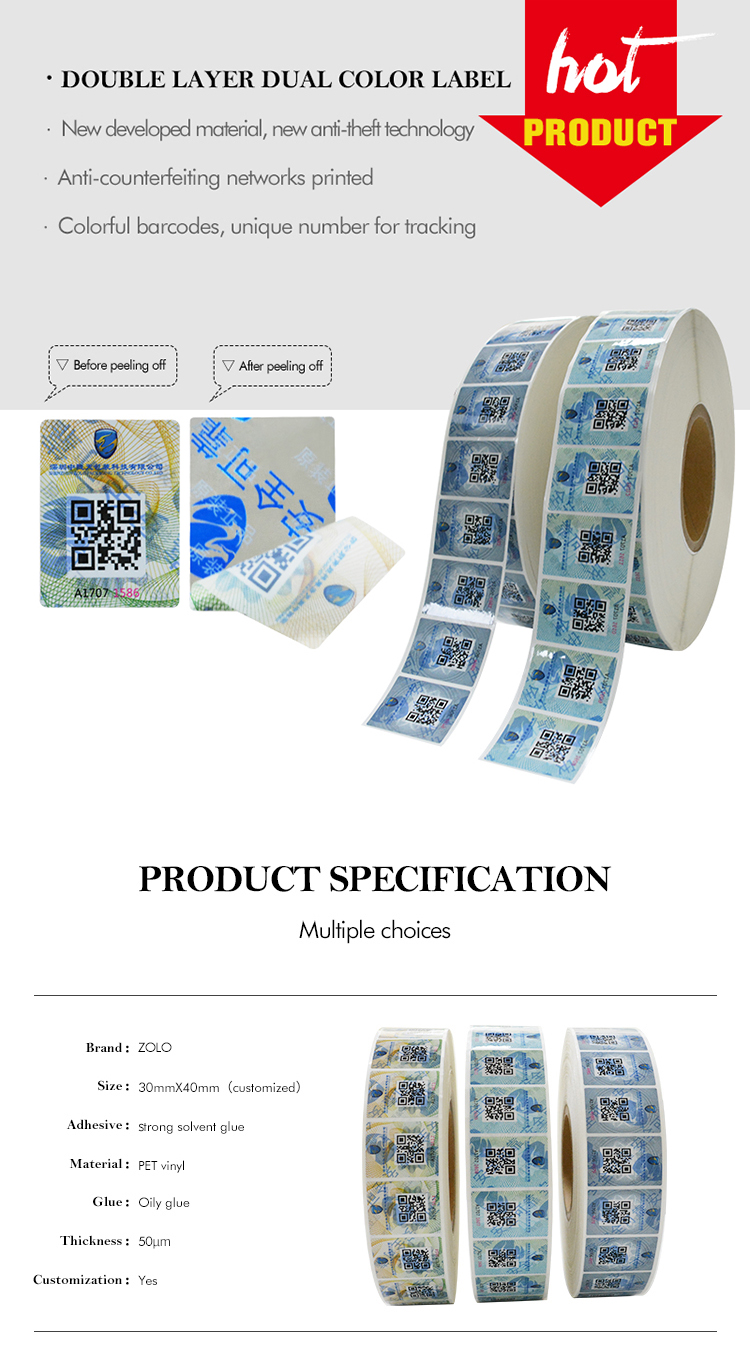 Double Layer Security Label