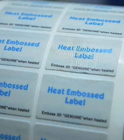 Heat Embossed Sticker
