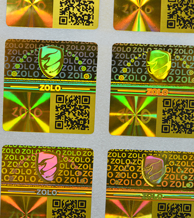 QR Code Hologram Sticker