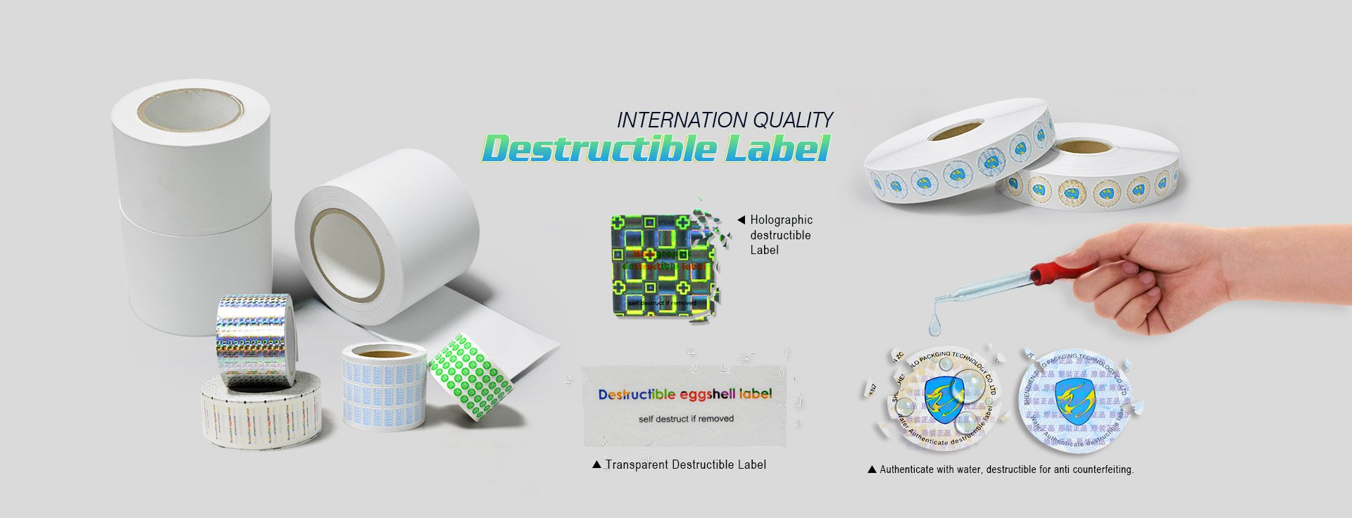 Destructible Vinyl Products