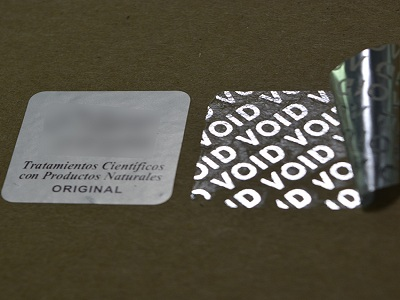 The features of transparent void hologram sticker