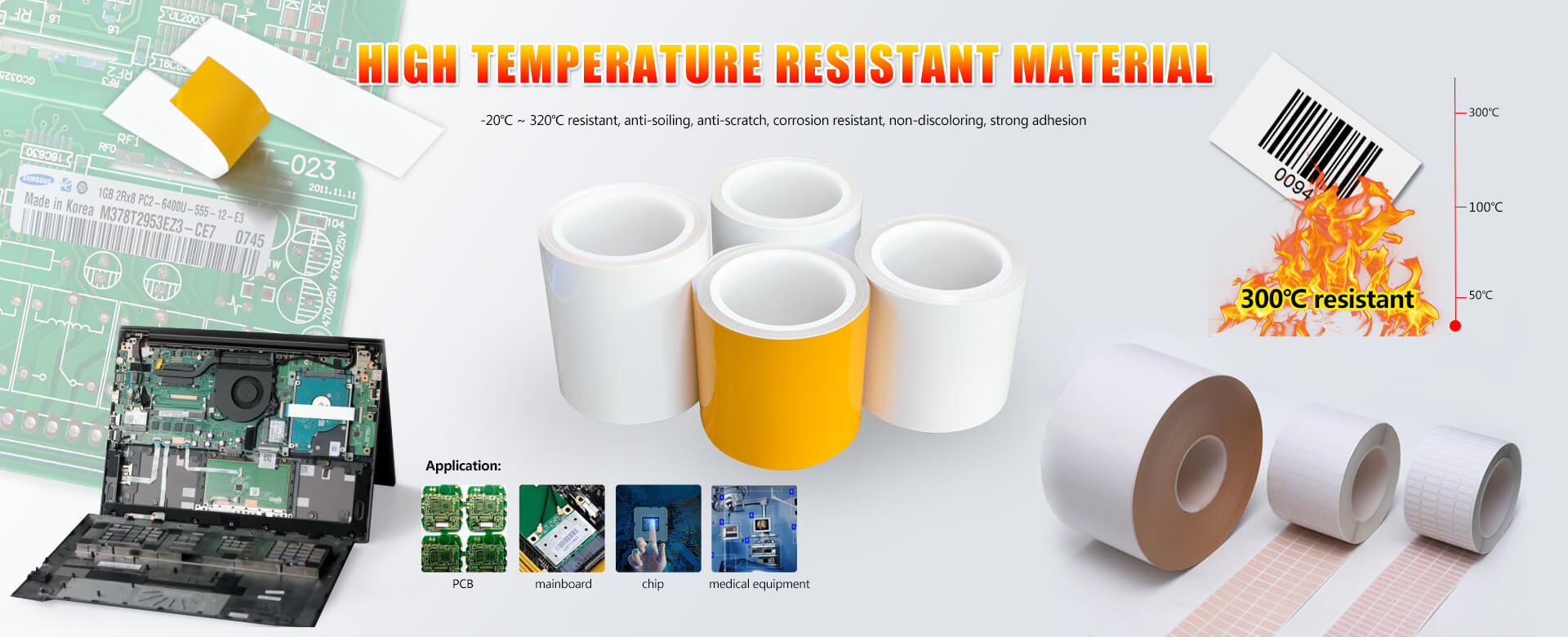 High Temperature Heat-resistance Label Materia